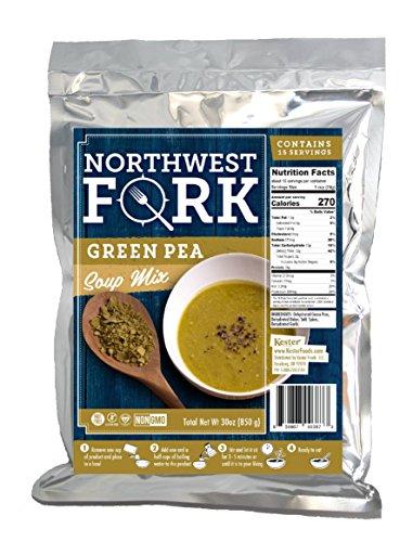 NorthWest Fork Green Pea Soup (Gluten-Free, Non-GMO, Kosher, Vegan) 15 Serving Bag – 10+ Year Shelf Life