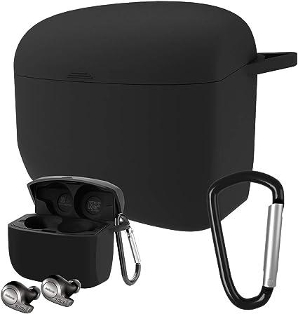 Jabra Elite Active 65t Silicone Case Esimen Protective Skin Cover for Jabra Elite 65 Wireless Sports Earbuds Black