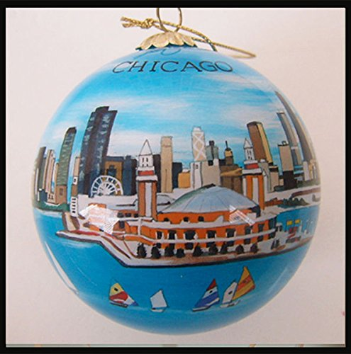 Chicago Navy Pier Skyline Ornament