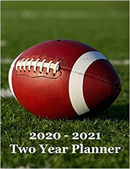 2020 – 2021 Two Year Planner: Football on Football Field Cover