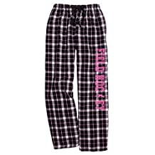 Field Hockey Black Pink Lounge Flannel Pant with Pockets