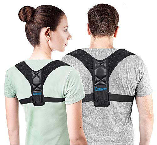 Comezy Back Posture Corrector for Women & Men - Powerful Magic Stickers Adjustable Clavicle Back Brace - Best Effective and Comfortable Posture Back Brace(26-40inch).
