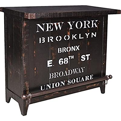 Industrial Bar with Wine Storage New York. Bar Furniture, Industrial Bar Trent Bar Cabinets