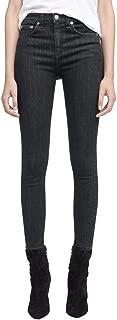 product image for Rag & Bone/JEAN Women's High Waist Ankle Skinny Faded Black Jeans, Ariel - 25