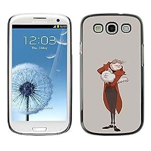 GOODTHINGS ( NO PARA S3 Mini ) Funda Imagen Diseño Carcasa Tapa Trasera Negro Cover Skin Case para Samsung Galaxy S3 I9300 - gato blanco hombre real arte furry aristócrata