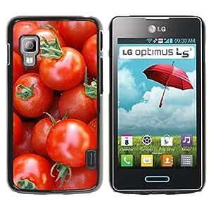 Paccase / SLIM PC / Aliminium Casa Carcasa Funda Case Cover - Fruit Macro Cherry Tomatoes - LG Optimus L5 II Dual E455 E460
