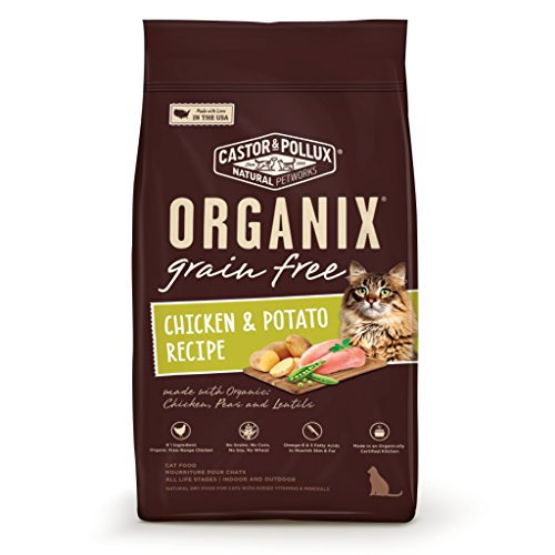 Organix Grain Free Chicken & Potato Recipe Dry Cat Food, 4-P