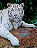 Student Academic Planner 2019-2020: White Tiger Daily Organizer Calendar Class Schedule, School Assignment Tracker, Grade Log Book, Goals, Notes Pages, Weekly Monthly (School Organizer)