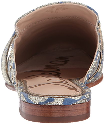 Women''s Jacquard Blue Mule metallic Sam multi Edelman Marilyn UqHSaS