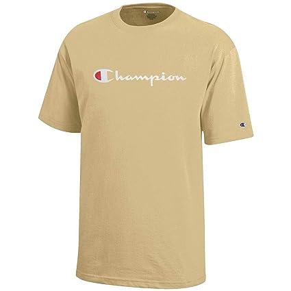 219e60ad Amazon.com : Champion Script Logo Youth (Vegas Gold) Short Sleeve T-Shirt :  Sports & Outdoors