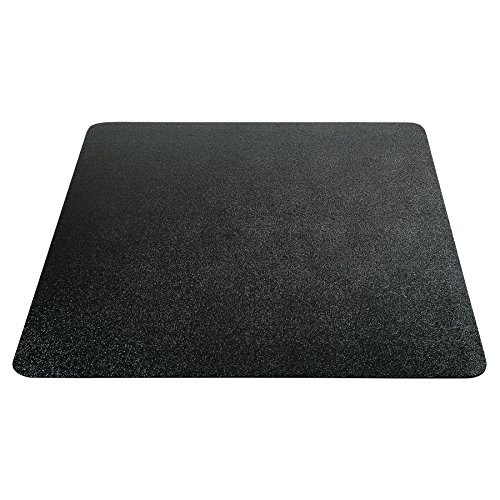 Deflecto EconoMat Chair Mat, Non-Studded for Hard Floors, Straight Edge, 46'' x 60'', Black (CM21442FBLKCOM) by Deflecto