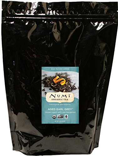 Numi Organic Tea Aged Earl Grey, 16 Ounce Pouch, Loose Leaf Black Tea (Packaging May ()