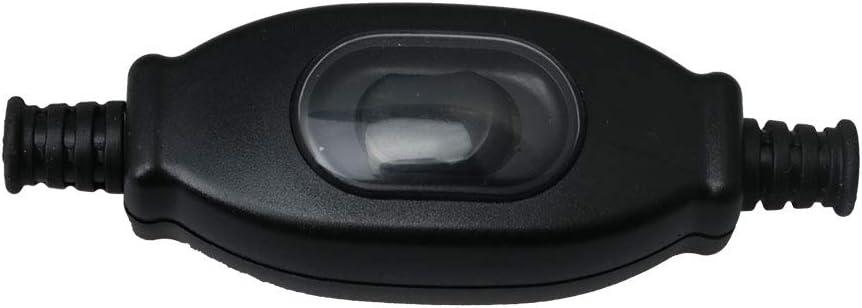 resistente al agua 750 W//250 V BQLZR Interruptor de encendido//apagado de pl/ástico negro resistente al polvo bot/ón de presi/ón 3 A