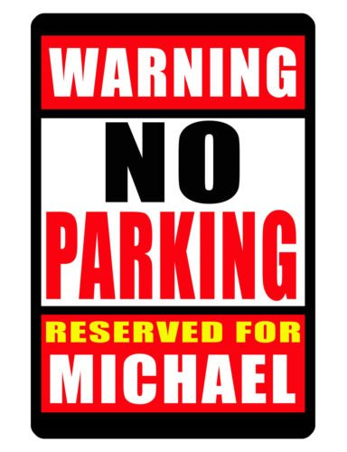 NEW Personalized RESERVED PARKING Sign WITH YOUR NAME DURABLE ALUMINUM NO RUST - Family Reserved Parking Sign