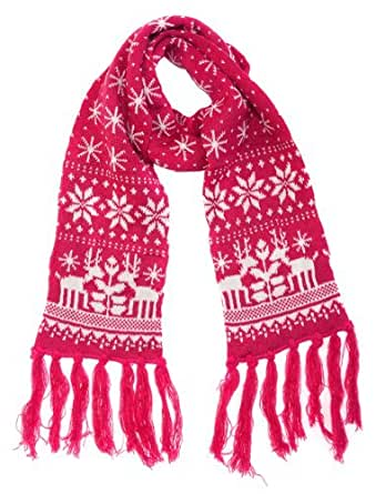 Central Chic Women's Winter Scarf - Thick Knit Scarf With