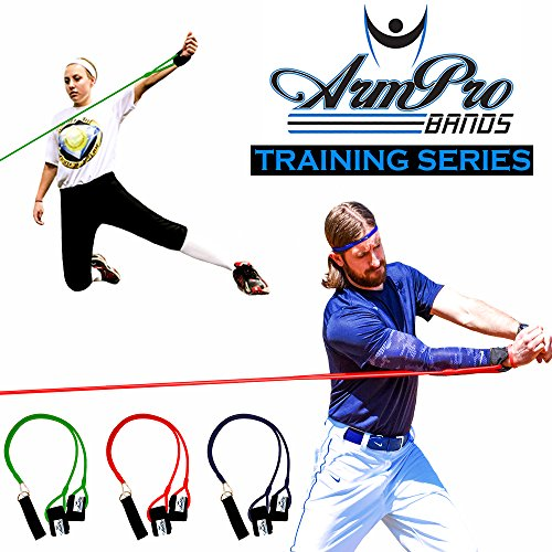Arm Pro Bands – Resistance Training Bands for Baseball and Softball Arm Strength and Conditioning. Available in 3 Levels (Youth, Superior, Elite). Anchor Strap, Travel Bag, Digital Training Downloads – DiZiSports Store