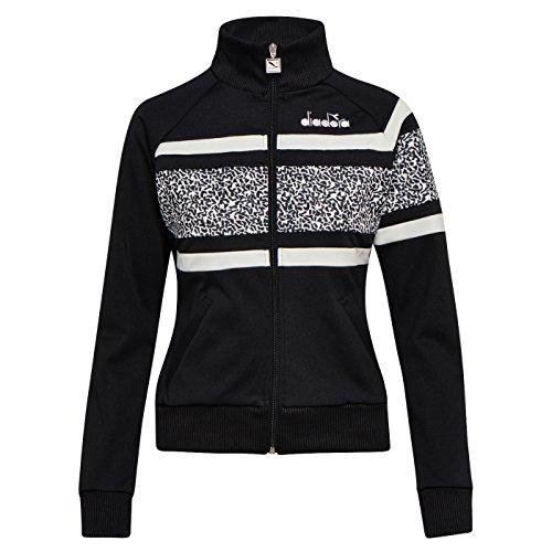 optical 80s Diadora Femme L Pour Black White Veste Jacket xfwwTq47g0
