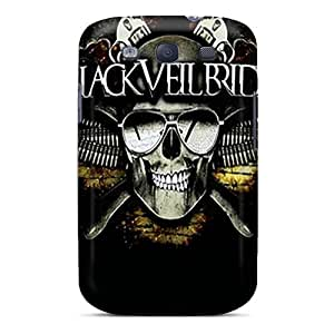 Shock Absorption Cell-phone Hard Covers For Samsung Galaxy S3 (cGd8280jgqc) Support Personal Customs Vivid Black Veil Brides Image