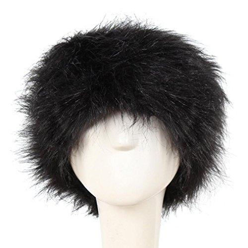 Goddessvan Hot Sale Women Winter Hat Warm Faux Fur Outdoors Headgear (Black) (Case Visor Beanie)