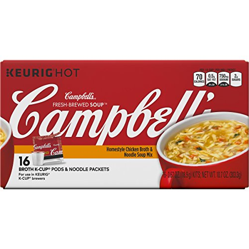 Campbell's Fresh-Brewed K-Cup Soups, Homestyle Chicken Broth