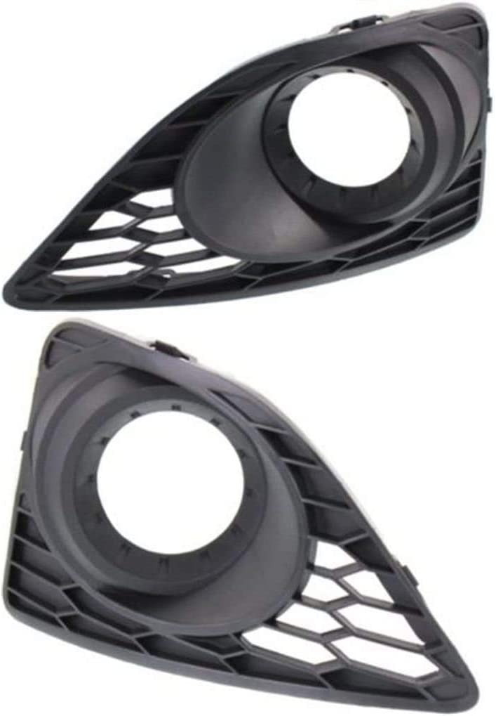 I-Match Auto Parts Left Driver and Right Passenger Side Fog Lamp Hole Cover Replacement For 2010-2012 Ford Fusion FO1038122 FO1039122 AE5Z17E811BA AE5Z17E810BA Black With Fog Light Hole Set of 2