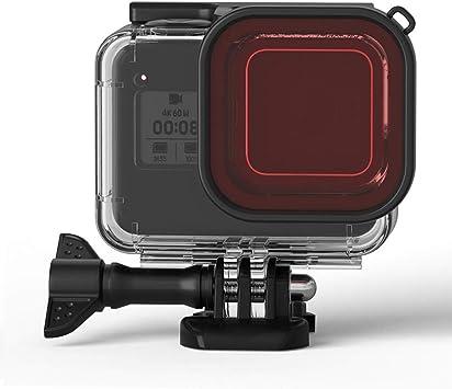 Caja Protectora para GoPro Hero 8 Carcasa Impermeable Accesorio 60M Funda de Protección Subacuática Carcasa Protectora Accesorio con Pinza de Montaje Rápido: Amazon.es: Electrónica