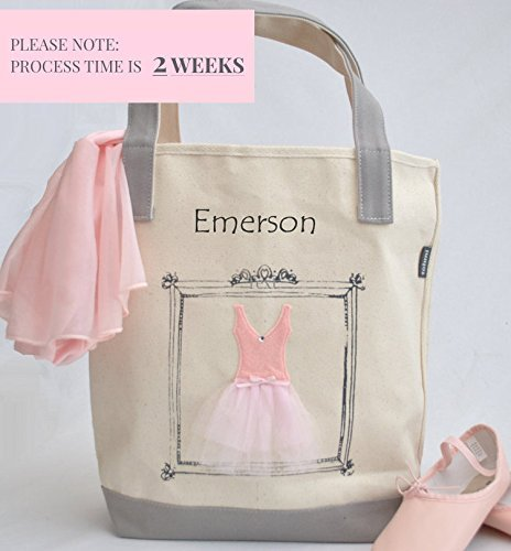 Ballet Tote (Small Ballerina Tote, Tutu Ballet Bag, Flower Girl Gifts, Personalized Gifts, Tutu Bag, Ballet Bag, Dance Bag, Personalized Girls Dance Bag)