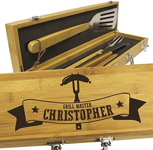 Personalized Gifts for Him – Custom Engraved Birthday, Anniversary, Wedding Gift for Men, Dad, Boyfriend, Husband – BBQ Grilling Gift