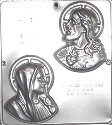 Sacred Heart Jesus and Mary Chocolate Candy Mold Religious 401 - Religious Candy Molds