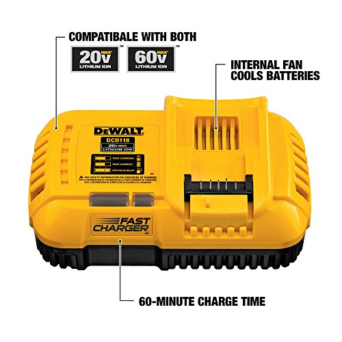DEWALT DCB118X1 20/60V MAX FLEXVOLT Lithium-Ion 9.0Ah Battery Pack with Fan-Cooled Charger - http://coolthings.us