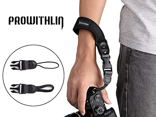 Prowithlin Universal Neoprene Camera Wrist Strap Hand Strap with 2 Quick...