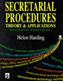 img - for Secretarial Procedures: Theory and Applications by Helen Harding (1996-06-28) book / textbook / text book