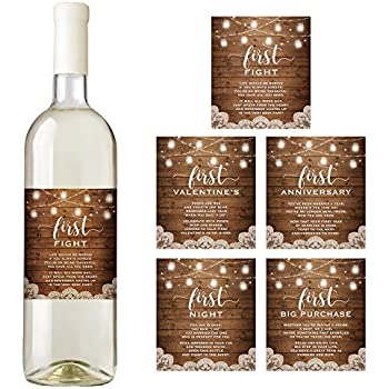 Amazon.com | Rustic Wine Bottle Labels for a Wedding Gift, Wedding ...
