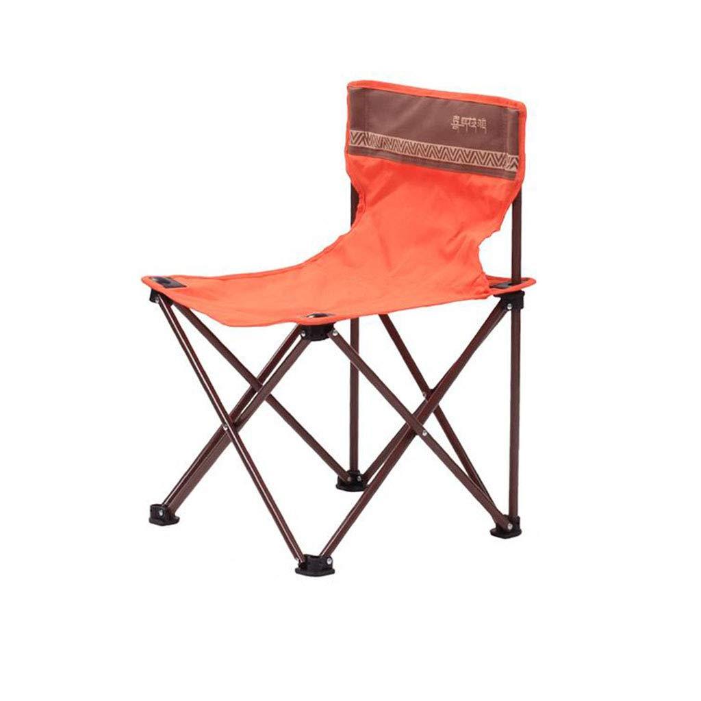 Xy Sedie Pieghevoli Sedia da Campeggio Pieghevole Sedia da Campeggio Pieghevole Sedia da Pesca Portatile Sedia da Spiaggia (colore   arancia)
