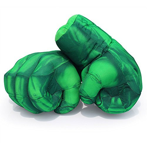 Hulk hands Kids Boxing Gloves Soft Plush Gloves Cosplay Costume Toy Fists for Birthday Christmas Halloween Gift by AENMIL]()