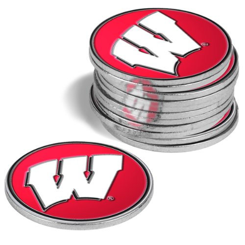 Wisconsin Badgers Golf Ball Markers (4 Pack) Wisconsin Badgers Hat Clip