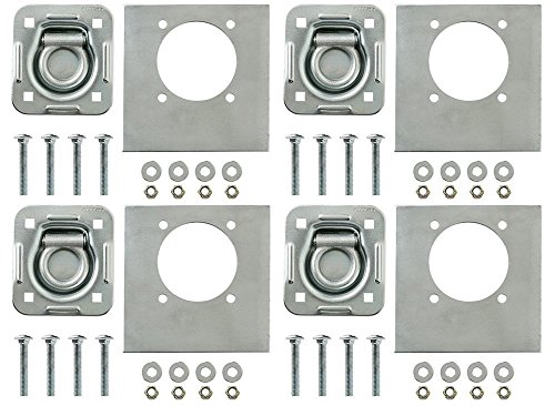 4-pack - Recessed Pan D-ring Trailer Tie Downs 6,000 Lb. Capacity New, Free Ship