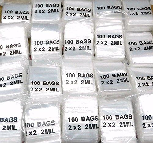 ZIPLOCK BAGS 12,000 RECLOSABLE 2MIL CLEAR POLY 2 x 2 ZIP SEAL BAGGIES 2