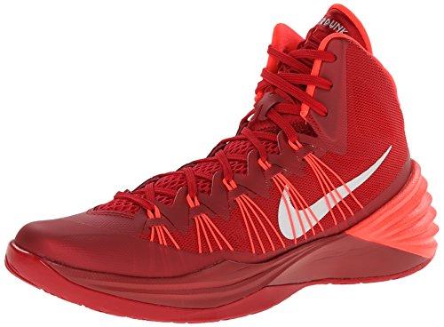 Nike Mens Hyperdunk 2013 TB, GYM RED/METALLIC SILVER-BRIGHT CRIMSON Gym Red/Mtllc Slvr/Brght Crmsn