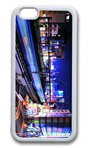 MOKSHOP Adorable City Lights China Soft Case Protective Shell Cell Phone Cover For Apple Iphone 6 (4.7 Inch) - TPU White