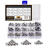 Tamier 500PCS M3/M4/M5 Stainless Steel Button Head Screw Hex Socket Head Cap Nuts and Bolts Assortment Kit