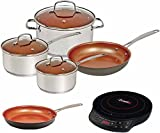 Nuwave Duralon Ceramic Non-Stick 7-Piece Cookware Set with Cook top and 10″ Fry Pan For Sale