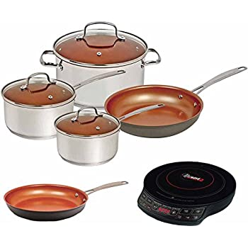 Amazon Com Nuwave Duralon Ceramic Nonstick 7 Pc Cookware