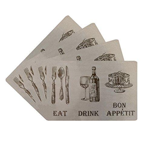 Cheap price Benson Mills Eat Drink Cork Placemat, Linen, (Set )