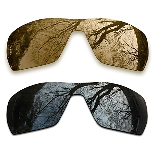 2 Pair Polarized Lens Replacement for Oakley Offshoot Black&Bronze - Polarized Offshoot Lenses Oakley Replacement
