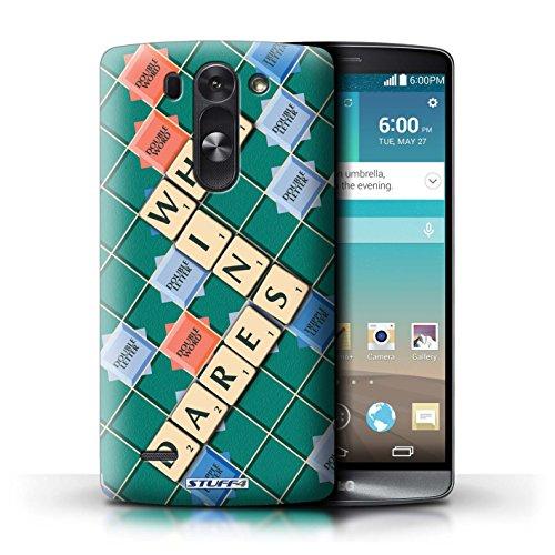 Kobalt® Imprimé Etui / Coque pour LG G3 S (Mini)/D722 / Celui Qui Ose conception / Série Mots de Scrabble