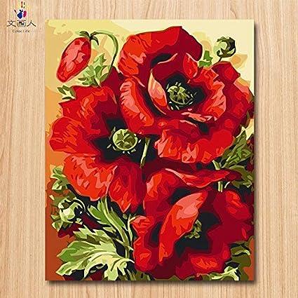 Basteln Malen Jjyyh Malen Nach Zahlen Blume E 100x180cm