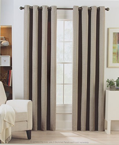 Herald Square 84 Inch Grommet Top Room Darkening Window Curtain Panel in a Sand Color 52 Inches x 84 - Square Herald