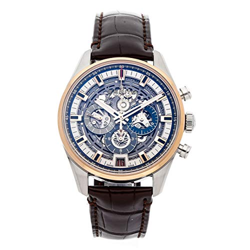 Luxury Men Watch (Zenith Chronomaster El Primero SS/RG Auto 42mm Alligator Strap Mens Watch 51.2081.400/78.C810 (Certified Pre-Owned))