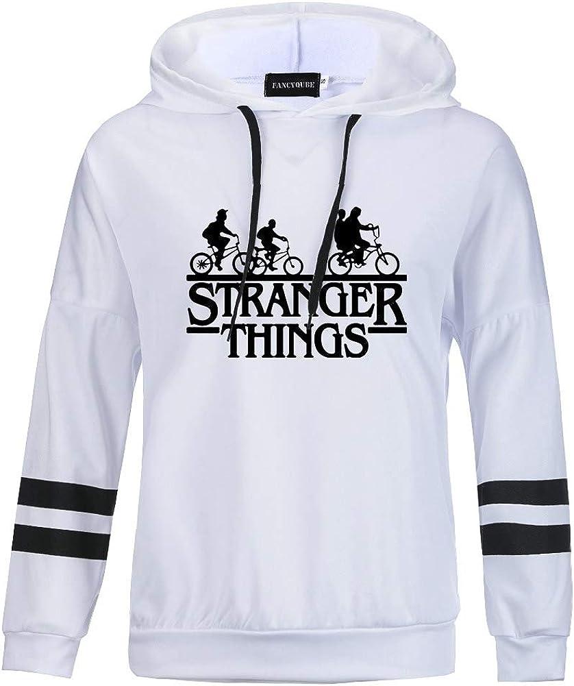 Felpa da donna con cappuccio motivo: Stranger Things con scritta in inglese Friends dont Lie Sussurro